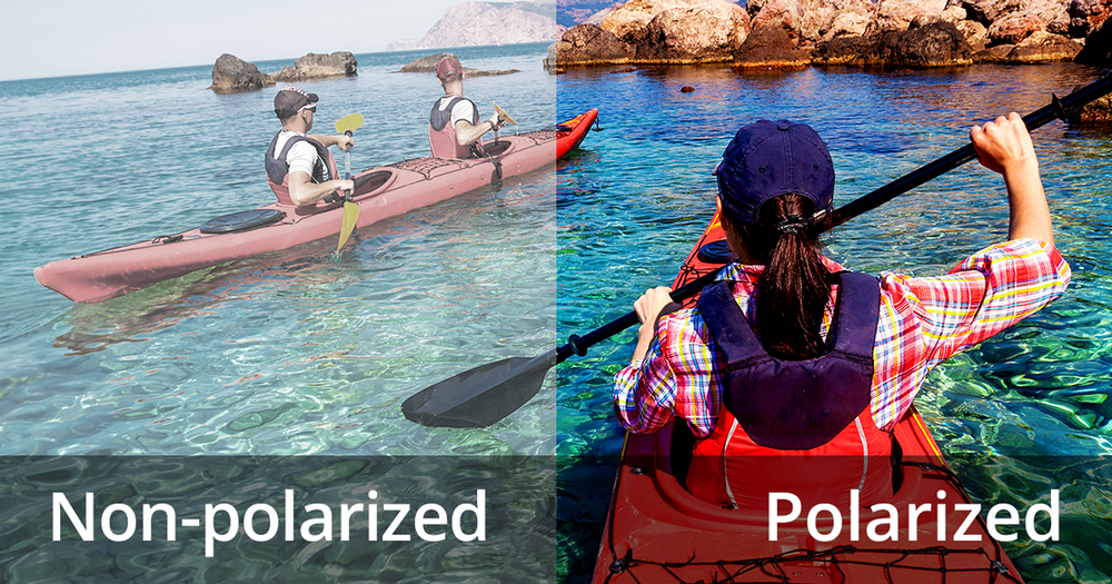 Verschil in zicht met polariserende glazen